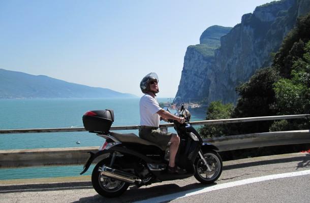 De start van één van de mooiste routes aan het Gardameer: de Brasa Schlucht