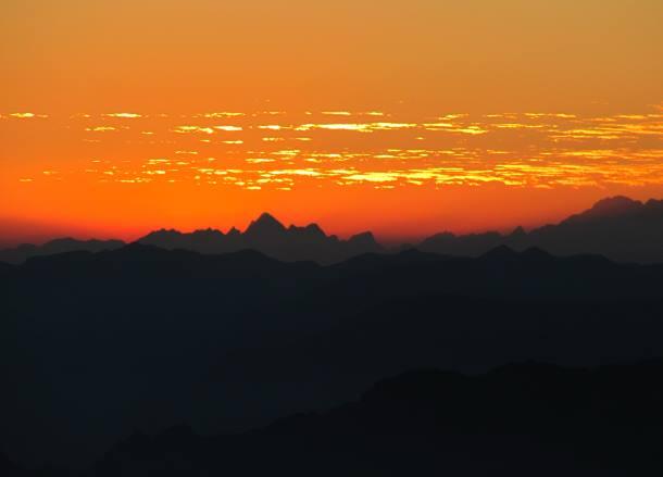Monte Baldo zonsondergang Gardameer