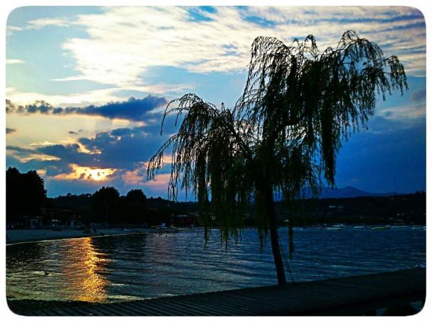 Zonsondergang aan het Gardameer