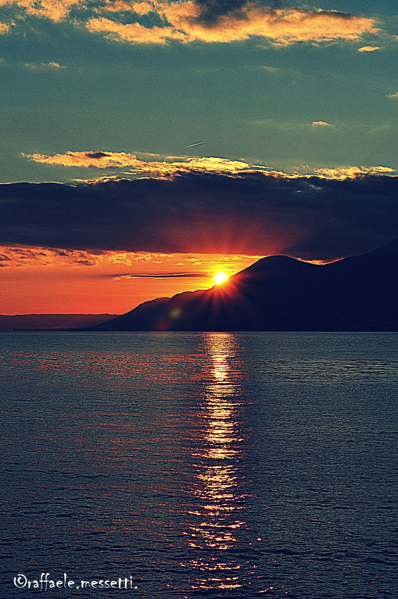 Herfst Gardameer zonsondergang Raf Mago Mes