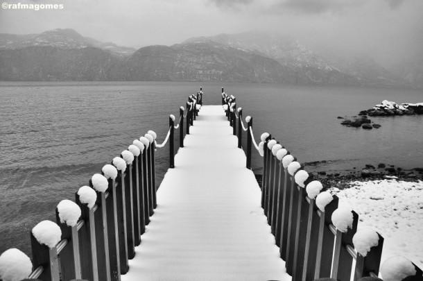 Ook in de winter kan het prachtig zijn aan het Gardameer