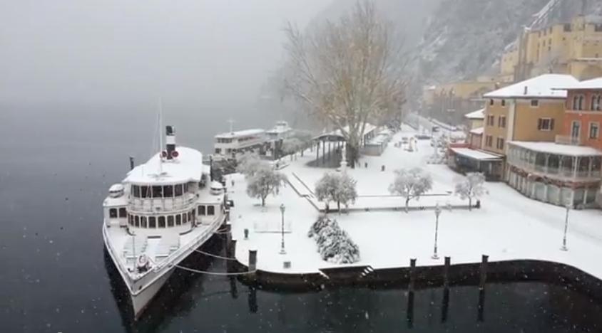 Winterweer aan het Gardameer