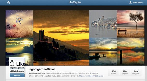 Lago di Garda instagram Gardameer