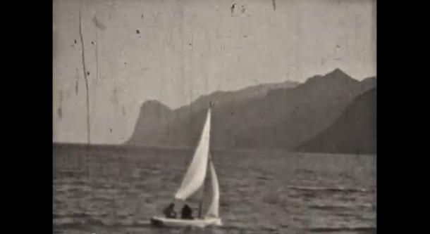 Oude videobeelden van het Gardameer