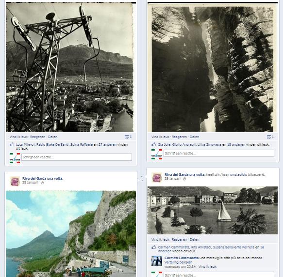 Oude foto's van het Gardameer