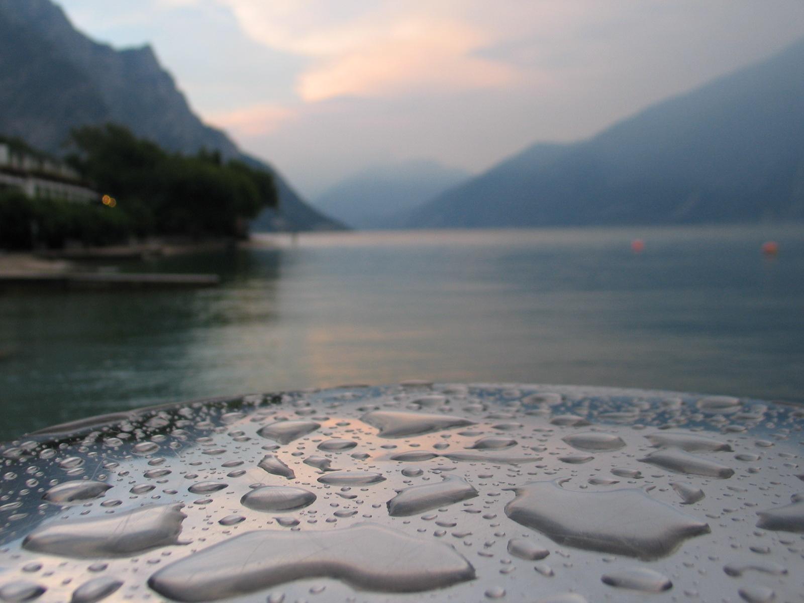 Gardameer regen