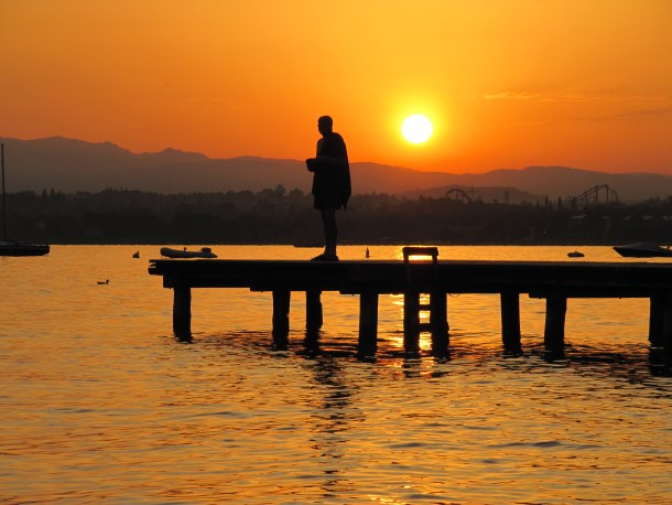 Gardameer zonsopgang