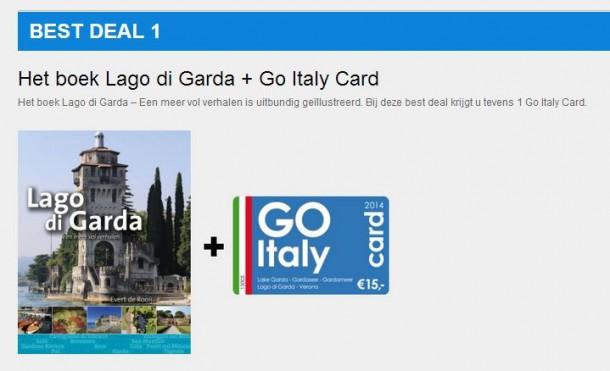 Lago di Garda boek + Go Italy Card