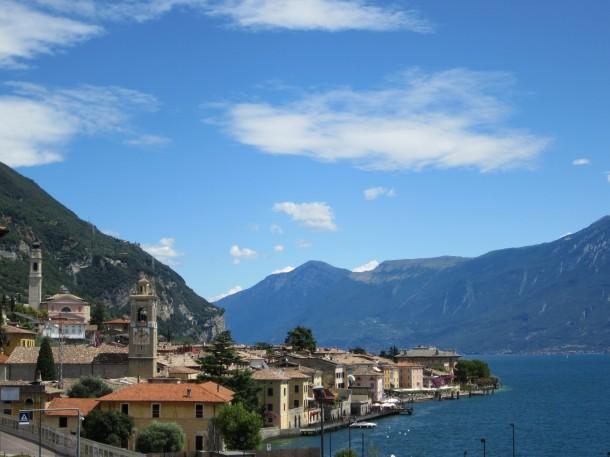 Het rustige dorpje Gargnano aan de westkust van het Gardameer