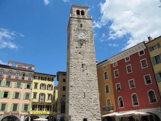 De Torre Apponale van Riva del Garda, in het noorden van het Gardameer