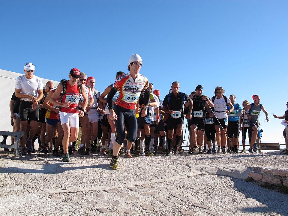 Deelnemers van de Baldo Trail Running 2012