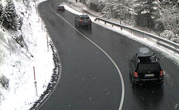 Sneeuw op de Fernpass