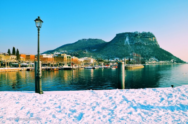 Gardameer winter - sneeuw in Garda
