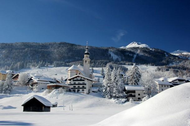 Zo ziet de omgeving van Fernpass er in de winter uit.
