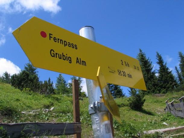 Te voet naar de Fernpass vanaf de Grubigstein in Lermoos