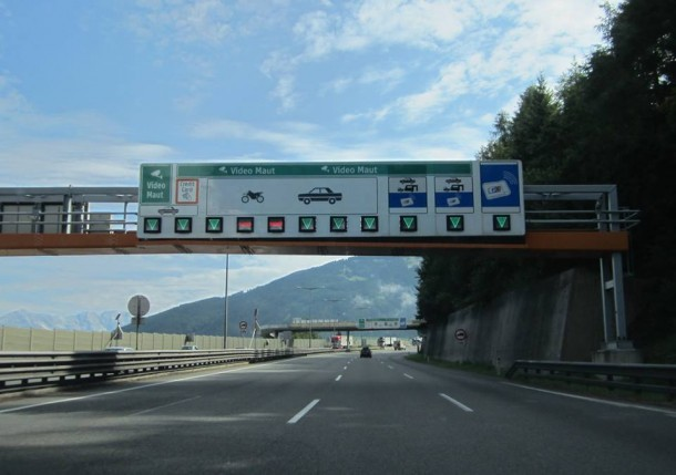 Via de Brennerpas naar Italie