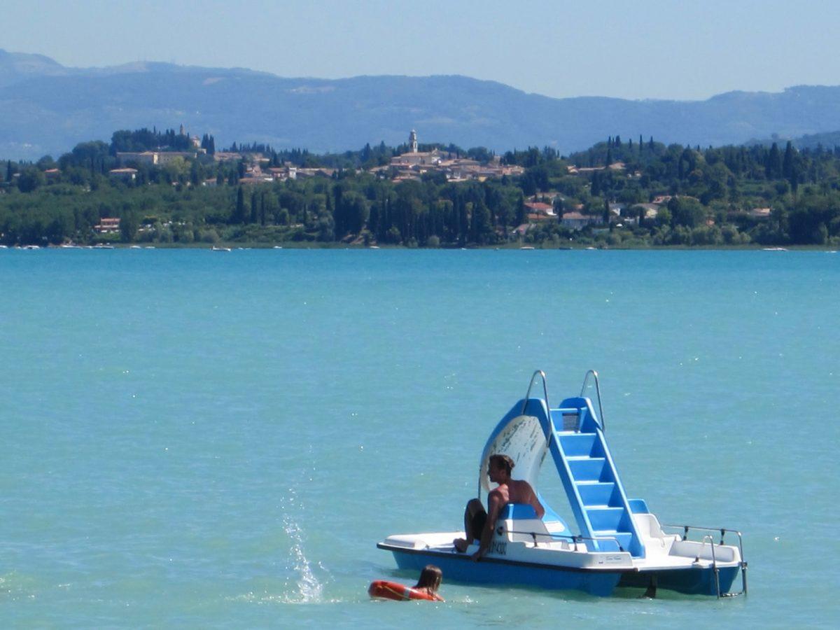 Waterfietsen aan het Gardameer
