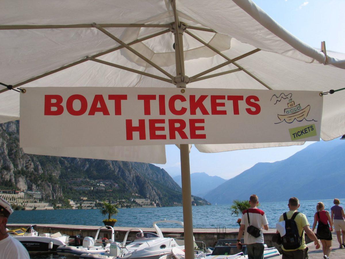 Met de boot van Limone sul Garda naar Malcesine